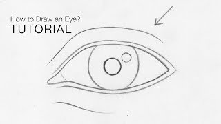 How To Draw An Eye From Any Angle For BEGINNERS (Basic Proportions) - EASY