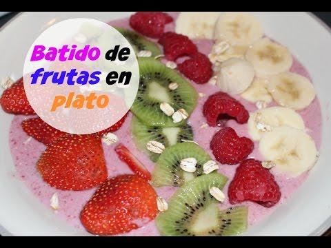 Batida de frutas en plato | Cocinando con Ros Emely