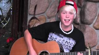 Austin Mahone- Say Somethin cover acoustic by 11 yr old Carson Lueders
