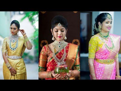 Beautiful wedding saree ideas //Top bridal sarees 2020//Kanchipuram sarees