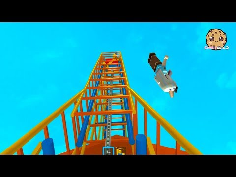 Rollercoaster Disaster Fail At Theme Park Roblox Game Play Video