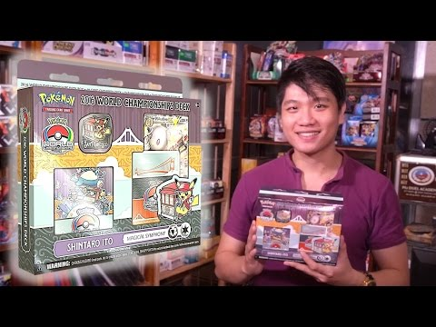 Mở hộp đồ chơi Pokemon 2016 World Championships deck - Shintaro Ito