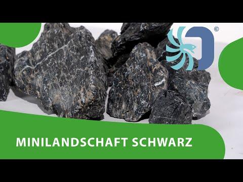 Minilandschaft schwarz für die Aquaristik Naturdeko für Dein Aquarium