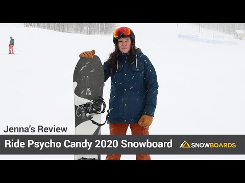 Video: Ride Psycho Candy Snowboard 2020 25 50