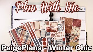PaigePlans Winter Chic - Plan With Me - Erin Condren Horizontal - November 20-26 2017
