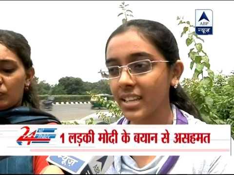 Gujarat girls support Narendra Modi's malnutrition remark