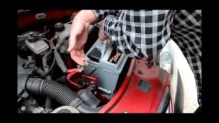 Установка аккумулятора Hugel Action 60Ah R+ на автомобиль Renault Logan Sedan 1.6