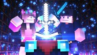 MINECRAFT GIRLFRIEND - ENCHANTING OUR DIAMOND SWORDS! (Minecraft Love Survival)