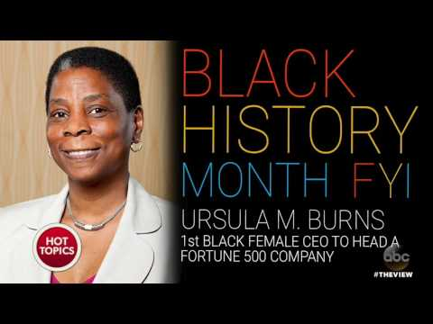 Black History Month FYI: Annie Malone and Ursula Burns | The View