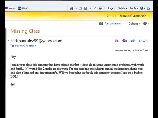 how not to email your professor