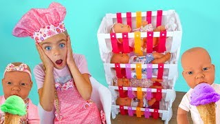 Las Ratitas cuidan de sus bebés pretend play with toys baby born dolls