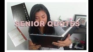 READING SENIOR QUOTES!