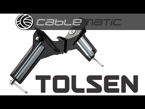 Sargento de esquina o ángulo de 75mm de herramientas Tolsen® distribuido por CABLEMATIC ®