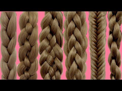 ТОП-7 Как плести косы    Техника плетения кос    Прически в школу для ленивых
