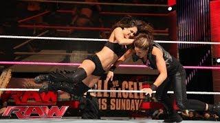 The Bella Twins vs. AJ Lee & Tamina: Raw, Oct. 21, 2013
