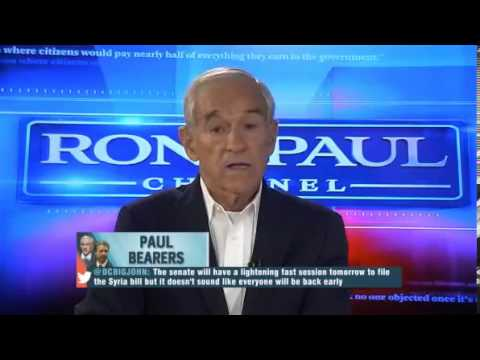 Ron Paul Heated Debate With Alex Wagner on Syria