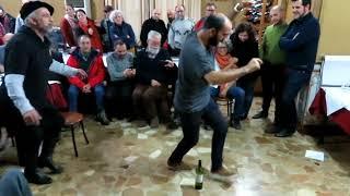 Eusebio y Arturo Martín (Mayalde). Baile de la botella. Barranda (Murcia, España), 27-01-2018