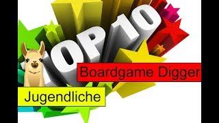 Die besten Spiele für Jugendliche / Top 10 / SpieLama / Boardgame Digger