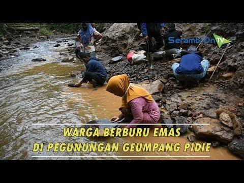 Berburu Butiran Emasdi Pegunungan Geumpang, Aceh Pidie