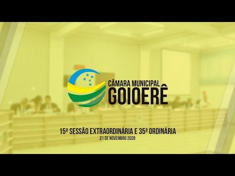 15ª Sessão Ordinária e 35ª Sessão Ordinária | 2020