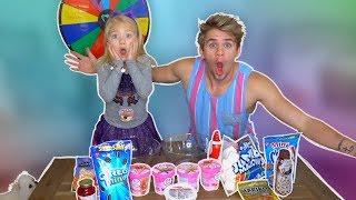 World's Largest Ice Cream Sundae Mystery Spin Wheel Challenge!!!