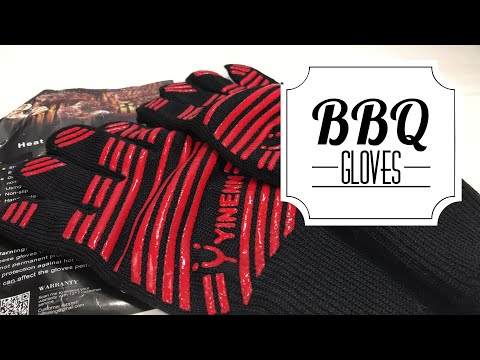 Heat Resistant Oven Mitts BBQ Cooking Gloves by YINENN Review