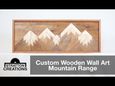 Custom Wooden Wall Art Mountain Range : Woodworking How To