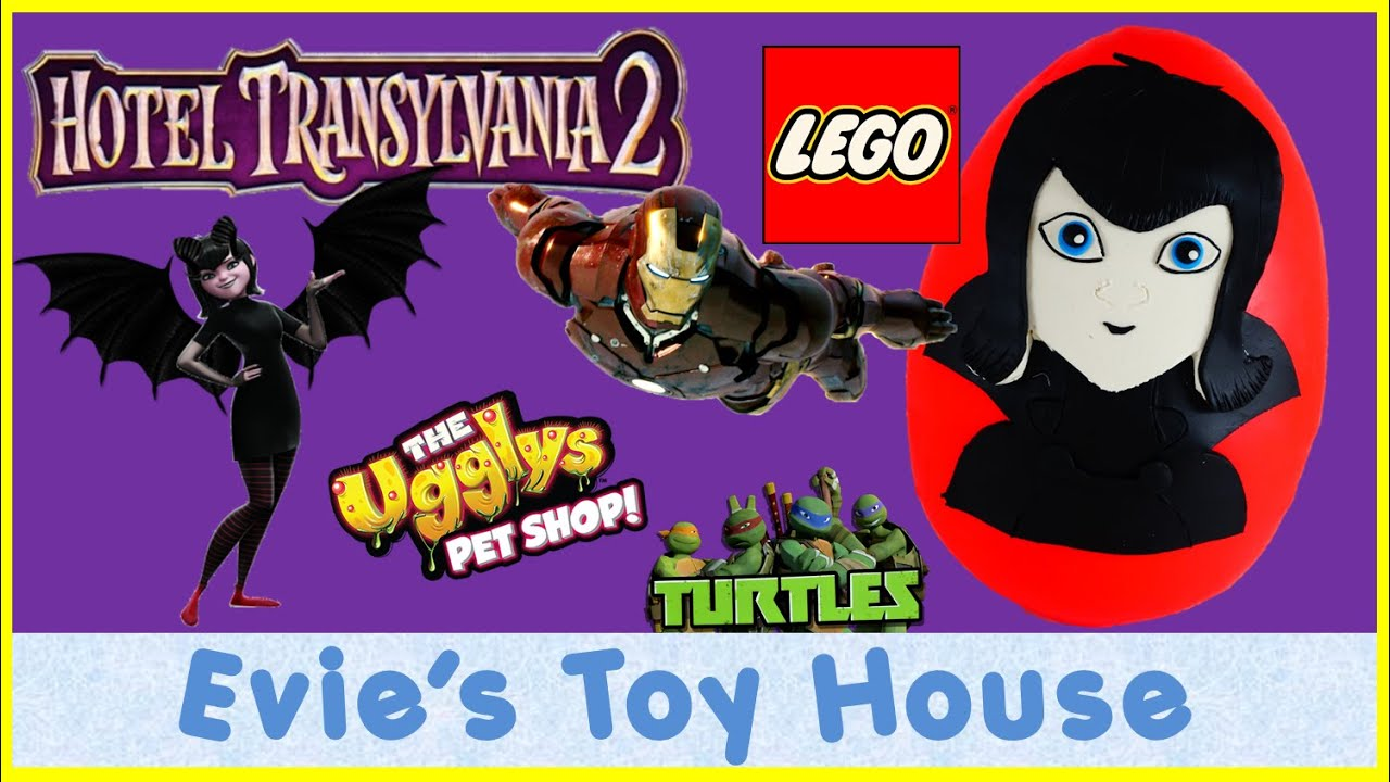Hotel Transylvania 2 Movie featuring Mavis Play-doh Egg Surprise Toys | Evies Toy House
