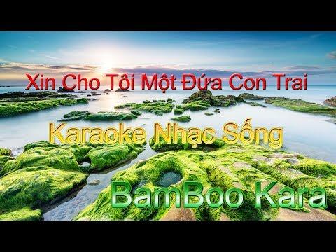 Xin Cho Tôi Một Đứa Con Trai Karaoke Rock - Karaoke.