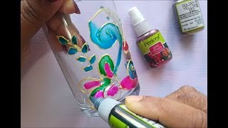 How To Do Glass Painting On Glass | Glass  Painting Designs | Glass Painting For Beginners