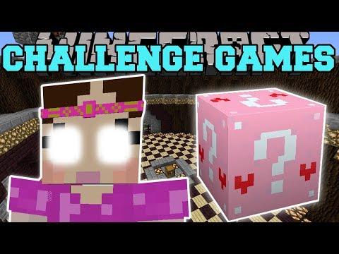 Minecraft: GIANT JEN CHALLENGE GAMES - Lucky Block Mod - Modded Mini-Game