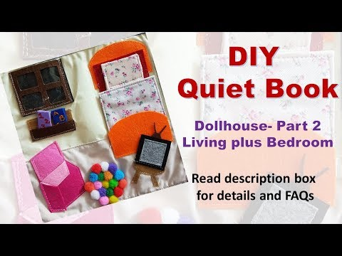 Doll House Quiet Book Tutorial Part 2 Living Plus Bedroom Templates