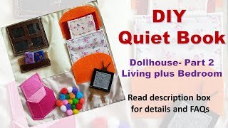 How To Make A Quiet Book - Dollhouse Part 2- Living Room Plus Bedroom