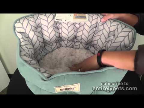 Petlinks Purrr Heaven Pet Bed - Surf Leaf Video