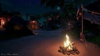 ✥Relaxing Soothing✥Ambient of Wave, Camp Fire.. etc✥Sea of Thieves 5h