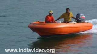 Boating off Dona Paula beach, Goa