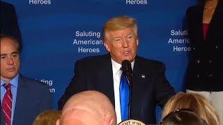 President Trump at the Salute to American Heroes. July 25, 2017. Veterans Affairs Sec. Shulkin