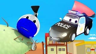 Авто Патруль: пожарная машина и полицейская машина, и Гектор застрял на дереве в Автомобильный Город