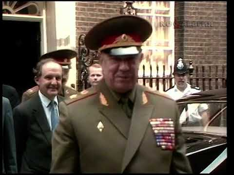 Дмитрий Язов. Визит в Великобританию 25.07.1989