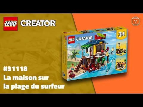 Vidéo LEGO Creator 31118 : La maison sur la plage du surfeur