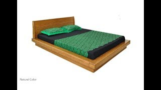 BED 128 Floor Touch Wooden Bed Price  Hatil Furniture
