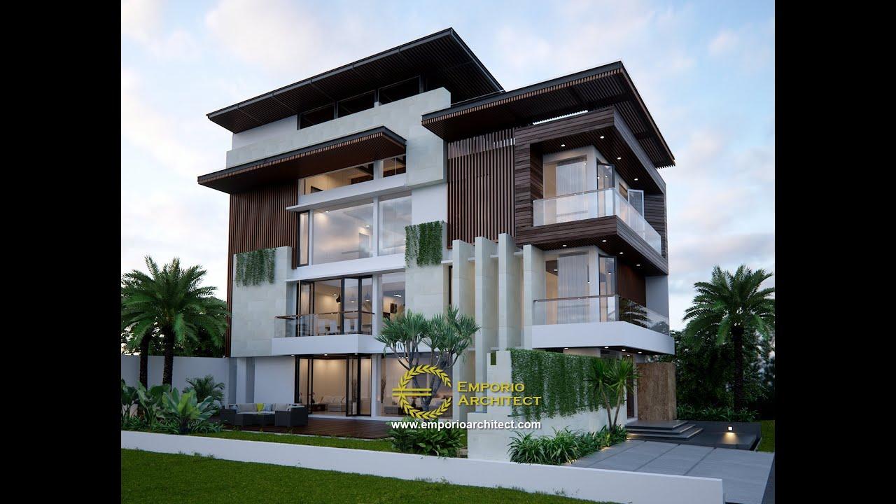 Video 3D Desain Rumah Modern 3 Lantai Bapak Edy di Jakarta Barat
