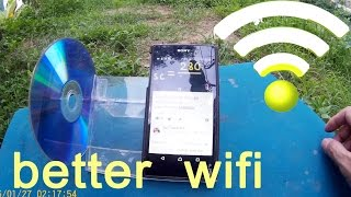 How to get better wifi signal from neighbor, diy phone holder