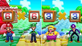 Super Mario Party - All Brainy Minigames (2 Player)