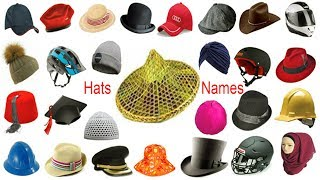 Hats Name, Meaning & Pictures | Hat Vocabulary | Necessary Vocabulary Tutorial