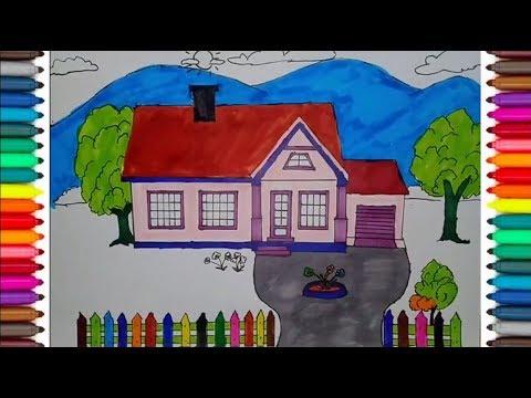 Cara Menggambar Rumah Mudah Dan Menyenangkan