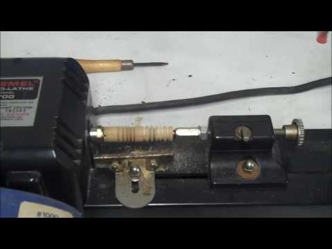 Dremel Mini Lathe Review and Demonstration Model 700 Lathe