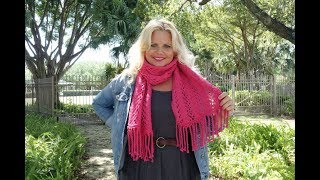How To Knit Bonita Brave Lace Scarf Easy Lace Slow For Beginners