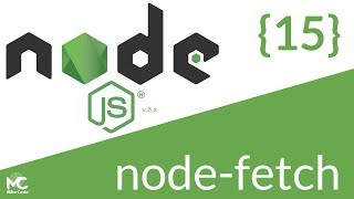Node.js Tutorial - 15 node-fetch