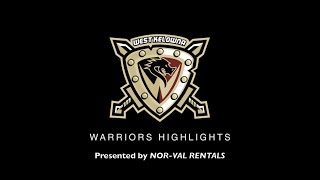 HIGHLIGHTS: Vernon Vipers @ West Kelowna Warriors – November 13th, 2020